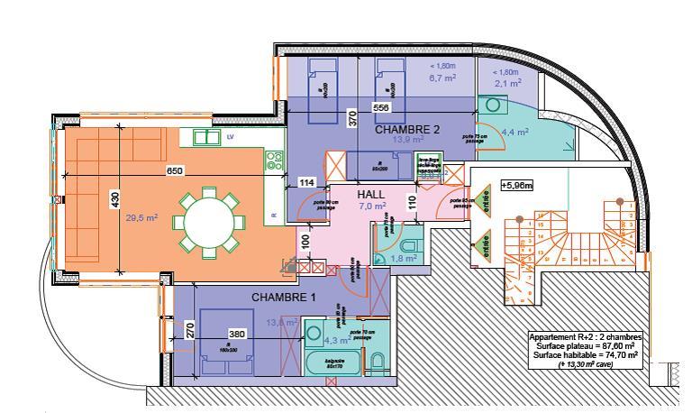 50 Plans 3d D 39 Appartement Avec 2 Chambres Parfait Et